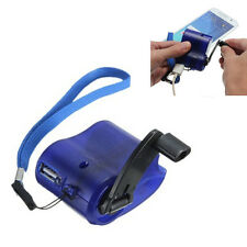 Portable Hand Crank Wind Up USB Cell Phone Emergency Charger For Camping BLUE