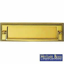 "HERITAGE BRASS GEORGIAN LETTER PLATE LETTER BOX 11""x3"" (280x88mm) WITH KNOCKER"