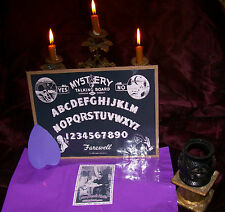 VINTAGE MYSTERY OUIJA BOARD WITH PLANCHETTE REPLICA