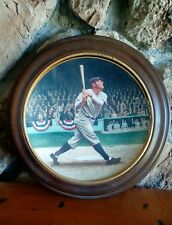 "VAN HYGEN FRAMED BABE RUTH NYY ""THE CALL SHOT"" DELPHI COLLECTOR PLATE 1992"