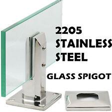 2205 Stainless Steel Glass Spigot for Pool Fence Frameless Balustrade Post Clamp