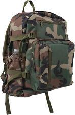 Woodland Camouflage Jumbo School Backpack