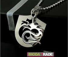 #S100 Dragon Tattoo Shield Stainless Steel Mens Pendant