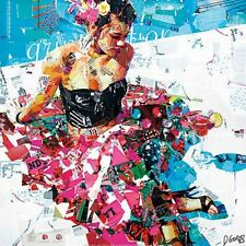 Derek Gores All Summer Long newspaper abstract collage lady in black art print