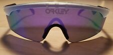 Authentic Oakley Heritage Razor Blades Sunglasses Clear/Violet Iridium Brand NEW