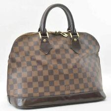 Authentic  Louis Vuitton Damier Alma Hand Bag N51131 #S4977