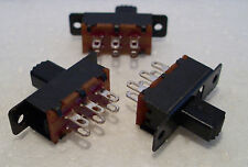 2K100 3 x Mini DPDT On-Off Slide Switch Ideal for Model Railway/Railroad Use 1st