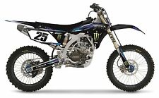 Yamaha YZ450F YZF450 2012 Black Plastic Monster Sticker Gripper Seat Cover Kit