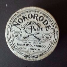 Nokorode Soldering Paste Jar and Advertising