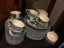 Currier and Ives Dinner Set Old Grist Mill
