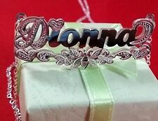 Name Double Plate Silver Personalized Choose Any Name Necklace(Butterfly tail)