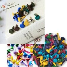 100pcs Mixed Colors Metal Brads for Scrapbooking Card Making DIY Craft 8mm