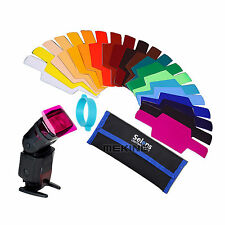 Selens SE-CG20 Flash Color Gels Filter Fits for Canon Nikon Oloong Yongnuo Sony