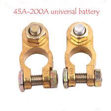 1Par Coche Terminal Cobre Pinzas batería clips Conector Negativo Positivo