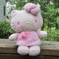 "Hello kitty 9"" plush Nakajima shaggy pink fur dress hair bow yellow nose 2010"