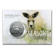 2016 Australia 1 oz Silver Kangaroo (Display Card) - SKU #93701