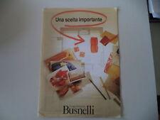 - CATALOGO DEPLIANT BROCHURE DIVANI GRUPPO INDUSTRIALE BUSNELLI - ANNI '90