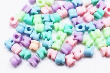 Elephant Bead Plastic Animal Shape Candy Color Small Children Baby DIY 7mm 40pcs