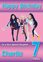 Little Mix Birthday Card Personalised A5 Large any age any Name