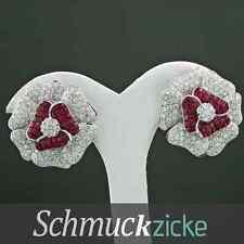 *Juwelierskunst* 4.64 ct  Brillant Ohrschmuck mit feinen Rubinen, SW 16.300.-EUR