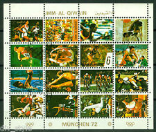 Munich 1972 Olympics minisheet of 16 cancelled stamps +++