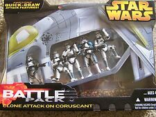 "Star Wars Clone Attack On Coruscant 3.75"" battle pack"