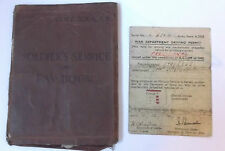 post war life guards trooper simpson 19018968  pay book / permit