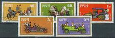 Briefmarken Ungarn 1970 Kraftfahrzeuge Mi.Nr.2564-66+68+69