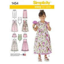 SIMPLICITY SEWING PATTERN CHILD'S DRESS SLIP DRESS TOP PANTS SHORTS 3-8 1454