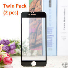 iPhone 7 Plus Screen Protector Full Cover 9H Tempered Glass Twin Pack (Black)