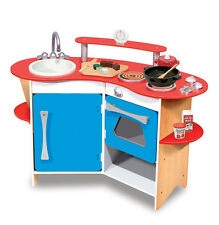 BRAND NEW! Melissa & Doug Cook's Corner Wooden Toy Kitchen for Creative Play