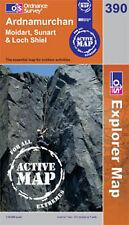 Ardnamurchan, Moidart, Sunart & Loch Shiel- OS Explorer ACTIVE Map 390(NEW 2007)