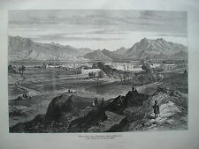 1879 AFGHAN WAR JELLALABAD FROM PIPER'S HILL PRINT ILLUSTRATED LONDON NEWS
