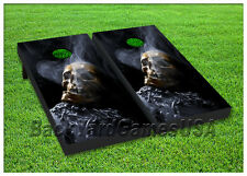 VINYL WRAPS Cornhole Boards DECALS Skull on Chains Bag Toss Game Stickers 32