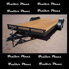 18' Heavy Duty Tandem Axle Car Trailer Plans With Instructions And BOM! 40+Pages