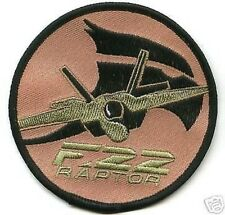 USAF LOCKHEED BOEING GD F-22 RAPTOR IRON-ON EMBROIDERED PATCH