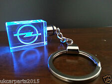 Crystal blue led light car key chain keyring fob for OPEL vectra astra corsa