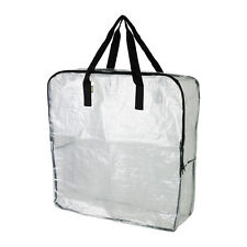 Lot of 3 IKEA Dimpa Heavy Duty Reusable Clear Storage Bag with Zipper