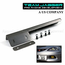 PREDRILLED JDM LEFT RIGHT FRONT LICENSE PLATE RELOCATOR BUMPER GRILLE GUNMETAL