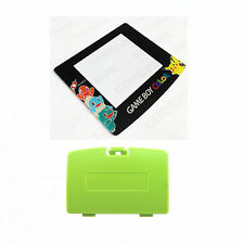 New KIWI GREEN Game Boy Color Battery Cover + Pokemon Squirtle Screen GBC