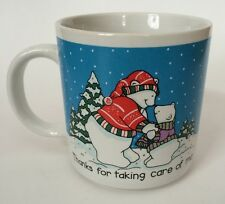 Russ Thanks For Taking Care Of Me Coffee Mug Cup Momma Papa Baby Bear Winter