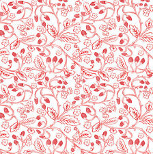 Blend ~ French Hen Wild Berries Red White Fabric / quilting strawberries nursery