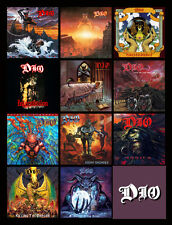 "DIO album cover discography magnet (3"" X 4.5"") black sabbath rainbow elf metal"