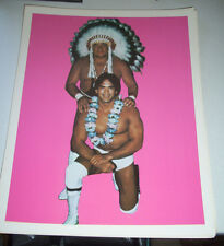 Ricky Steamboat and Wahoo McDaniel Wrestling Poster Photo NWA Early 80's