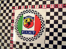 Round Checkered Abarth Sticker for Fiat 126 500 127 128 1100 1500 125