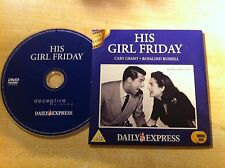 HIS GIRL FRIDAY Staring Cary Grant & Rosalind Russell DVD