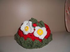 Crochet baby hat, strawberry, flower, lady bug, photo prop 3 to 6 months
