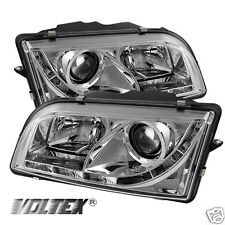 1997-2003 VOLVO S40 DRL LED PROJECTOR HEADLIGHTS LIGHTBAR LIGHT LIGHT CHROME