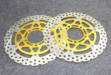 Gold Front Brake Disc Rotors For Kawasaki ZX-6R ( ZX600 R9F/RAF/RBF ) 2009-2011