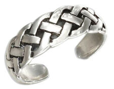 Cable Braid Toe Ring Sterling Silver 925 Best Deal Adjustable Jewelry USA Seller